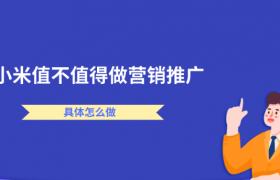 小米平台值不值得做网络营销推广,怎么做?插图